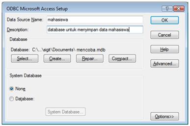 ODBC Setup (2)